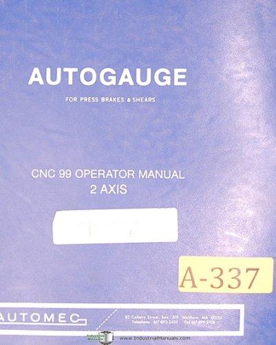 Automec Autogauge CNC99, Backgauging System, Press