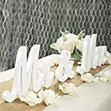 Features: Whitem mr and mrs sign is made of Wood (Density board). Natural Unpainted Vintage Style. This wedding sign are great choice for rustic wedding signs, rustic wedding table decorations or easy to DIY for modern weddings as you want. White Mr ...