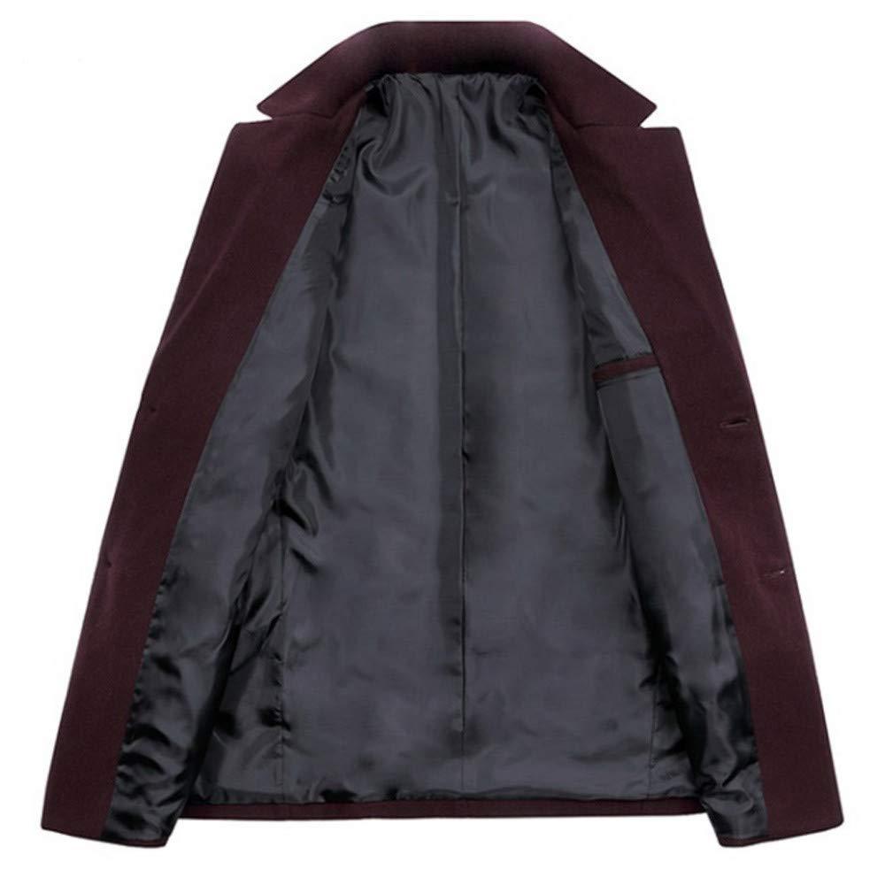 Giacca da Motociclista Felpe Elegante Blazer Casual Slim Maglia Cappotto Solido da Uomo Cappotto da Gotico Colletto di Lana Cappotto di Lana
