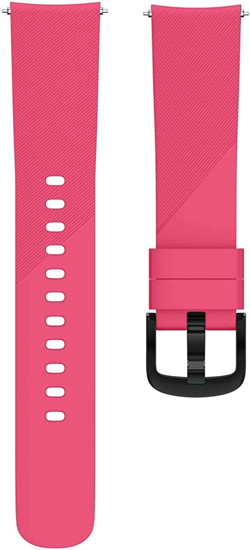 Simpleas Uhrenarmband kompatibel mit Garmin vívomove 3 (44MM) / Luxe (42MM) / Vivoactive 3, Premium Weiches Silikon Verstellbarer Ersatzgurt Rose