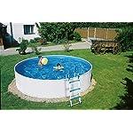 well2wellness Piscina rotonda Splash 300 x 90 cm con sistema di filtraggio a sabbia Azuro 2, scala di sicurezza, skimmer… 515y5QPuUlL. SS150