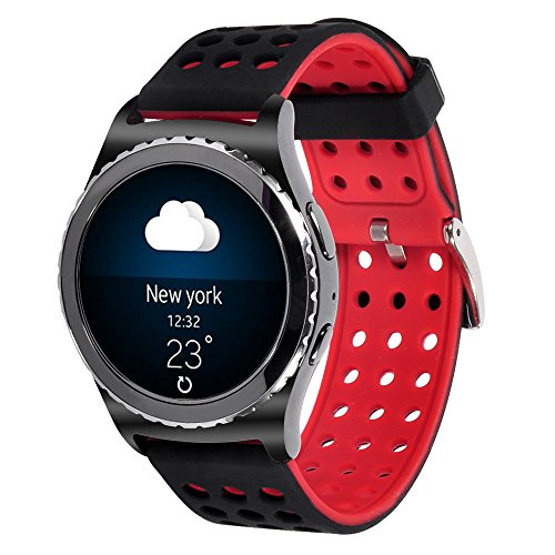20mm Silicone Watch Band for Samsung Galaxy Gear S2 Classic (Only for Classic Version)/Galaxy Watch(42mm)/Verizon GizmoWatch/Garmin v
