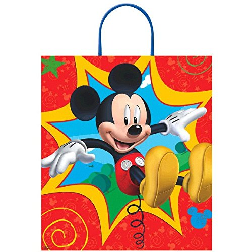 [Amscan Disney Birthday Bouncy Mickey Mouse Loot Bag Party Favour, Multicolor, 16