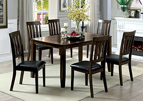 Bon Chandler 7Pc Dark Oak Counter Height Table Set By Furniture Of America