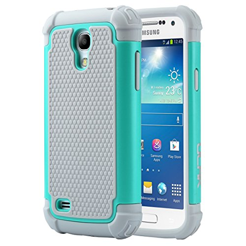 Galaxy S4 Mini Case, ULAK Hybrid Case with Dual Shock Resistant Soft silicone Case Design and Hard PC Construction for Samsung Galaxy S4 Mini (4.3