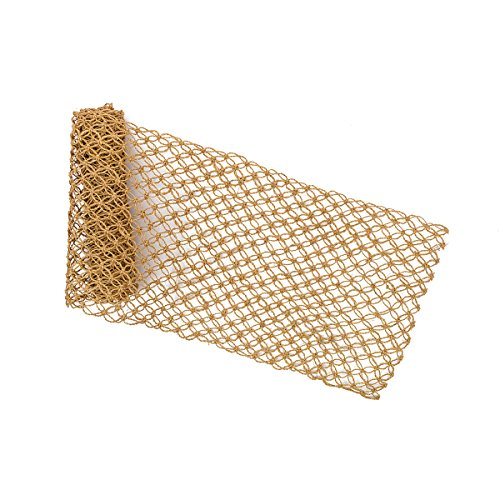 CFF Macrame Mocha Design Natural Abaca Fibers Table Runner 72X13 Inches