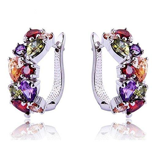 Topaz Colorful Mona Multicolor Garnet Jewelry Silver Ruby Amethyst Earrings