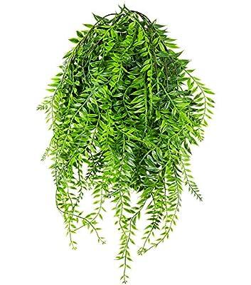 JWCTECH Artificial Plants Vines Fern Persian Rattan Artificial Plants