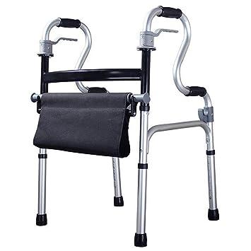 Andador con marco de aluminio ajustable y cuatro patas, para ...