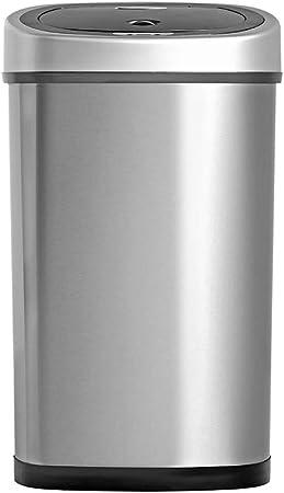 Homra Fonix 50 Liter Mülleimer mit Sensor Elektrischer Mülleimer 50L, 1 Fach Abfalleimer mit Sensor aus Hochwertiger Edelstahl