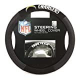 Fremont Die NFL Los Angeles Chargers Poly-Suede Steering Wheel Cover