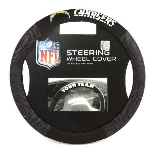 Charger Steering - Fremont Die NFL Los Angeles Chargers Poly-Suede Steering Wheel Cover