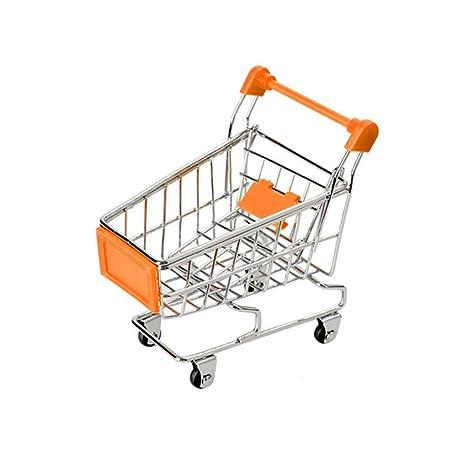 Topker Bebé Niños Simulación Mini Carro de Compras Juguetes carros de Mano de supermercado Cesta del