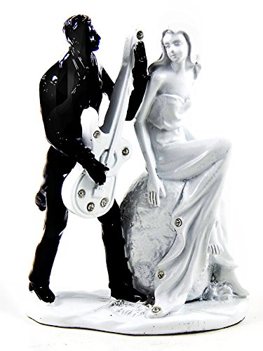 Rock Baby Love Never Dies Wedding Couple Embracing Statue Figurine