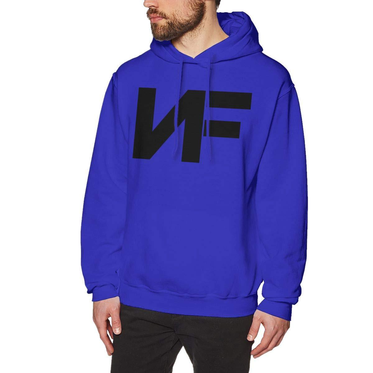 Men's NF Rapper Logo-Logo Hoodie Custom Pullover Sweatshirt Long Sleeve Hoodies Hooded for Youth Boys Men Blue 2XL by Cxcai