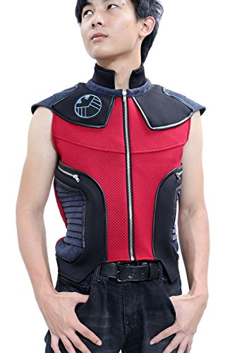 xcoser Hawk-Eye Costume Ultron Deluxe Men Cosplay Waistcoat Custom Made L -