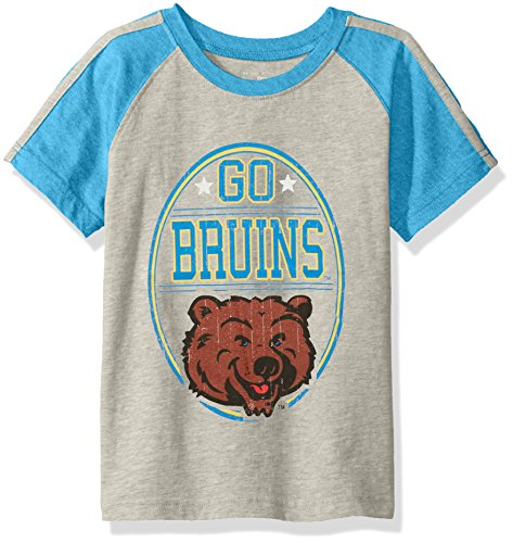 NCAA Boys Raglan Short Sleeve Stripe Tee,UCLA Bruins,Blue,S
