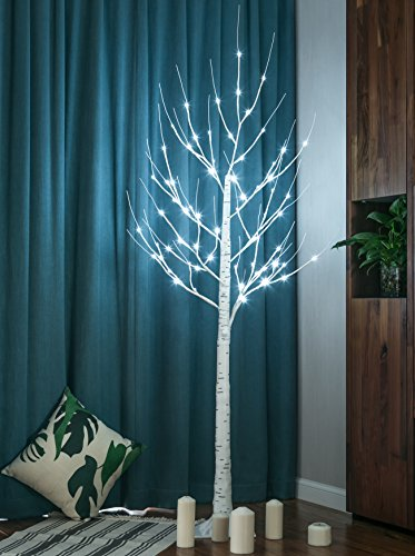 Twinkle Star Lighted Birch Tree 6 Feet for Home Wedding Festival Party Christmas Decoration (Birch Tree) Home Made Christmas Tree
