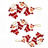 Christmas Decoration, 9Pcs Christmas Ornaments Gift Santa Claus Snowman Reindeer Doll Hang Decorations (Red)