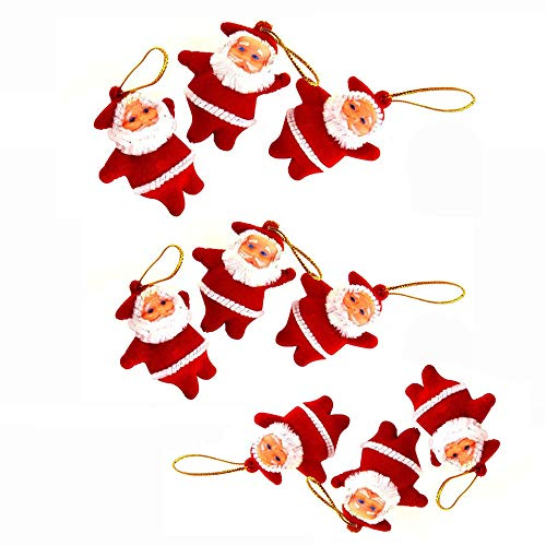 Hot Sale!DEESEE(TM)9Pcs Christmas Ornaments Gift Santa Claus Snowman Tree Doll Hang Decorations