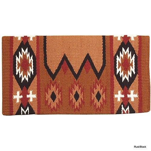 Custom Made Horse Saddles - Mustang Laredo Navajo Saddle Blanket Rust/Black