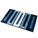 Kitchen Rugs,O'Family Non Slip Microfiber Bath Rugs with Rubber Backing Area Doormat Small Entry Runner Rug Set,17.7 Inch By 25.6 Inch