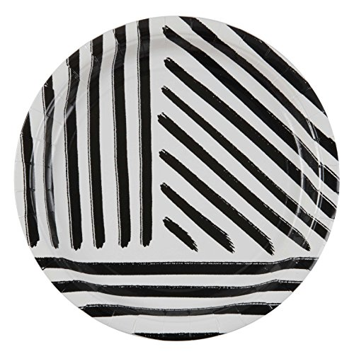 Black Stripe White Plate (Plum and Punch 9