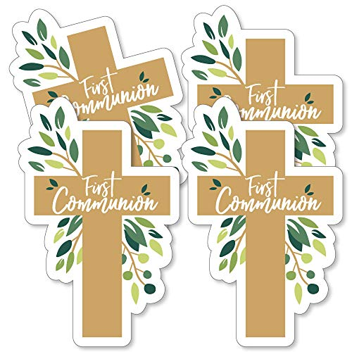 First Communion Elegant Cross - Decorations DIY Religious Party Essentials - Set of 20 -