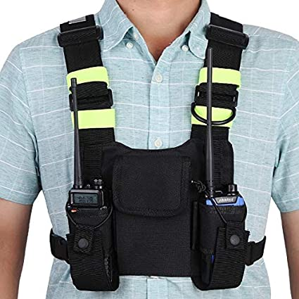 Chest Front Pack Pouch Pocket Carry Case Alomejor Radio Chest Harness Holster Vest Rig Chest Bag
