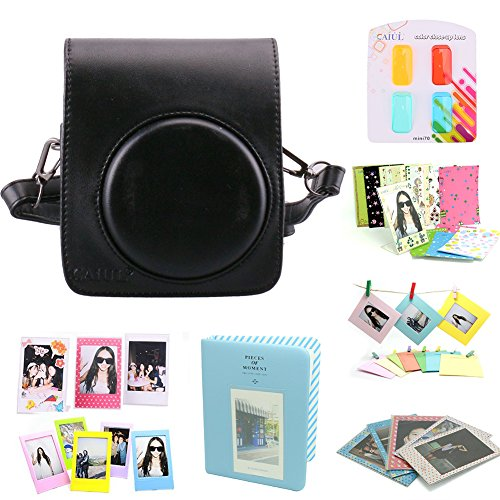 CAIUL Compatible Mini 70 Camera Case Bundle with Album, Filters & Other Accessories for Fujifilm Instax Mini 70 (Black, 8 Items) by CAIUL