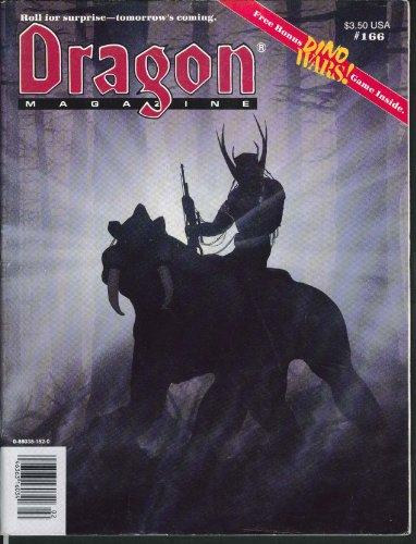 DRAGON #166 Battletech FASA Autoduel GURPS Wing Commander Dino Wars bonus 2 1991