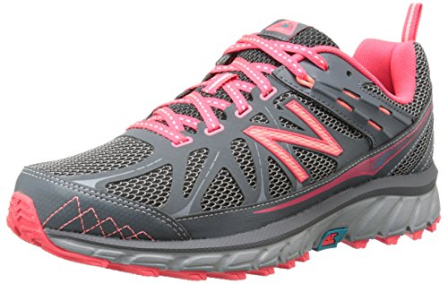 New Balance Women's WT610V4 Trail Shoe-W, Grey/Pink 8 B US