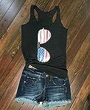 Women American Flag Sunglasses Print Tank Tops