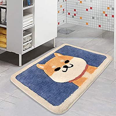 Color&Geometry Anti Slip Bath Mat Rug, Shag Shower Mats with Extra Soft and Water Absorbent Rugs, Machine Wash/Dry, Luxury Bath Carpet Fit for Bathtub, Shower and Bath Room… - 🐶(Ultra absorbent and soft)-All of our mat pads are constructed of premium microfiber materials, It can absorb 3 times of water in few seconds. 🐶(Anti-Slip design, more safety)-TPR bottom, strong Adhesion can help keep rugs in place on your floors and protect your family's safety. 🐶(Machine washable)-Machine washed and easy to dry, convenient, save time and energy. - bathroom-linens, bathroom, bath-mats - 515y9QTAZxL. SS400  -