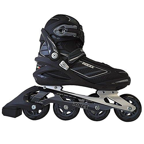 Roces 400799 Men's Model IZI Fitness Inline Skate, US 11, Black/Blue Lime