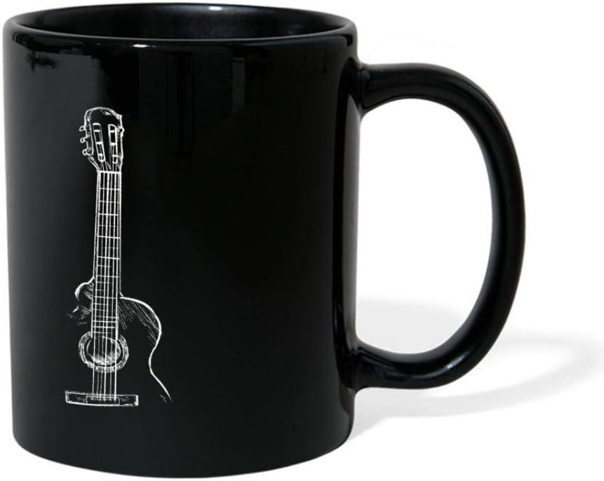 Black Acoustic Guitar Sketch Mug