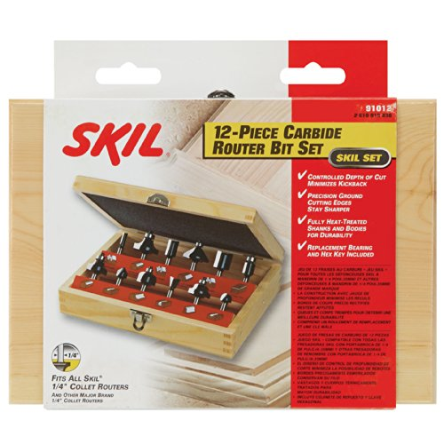 SKIL 91012 12pc Router Bit Set by Skil