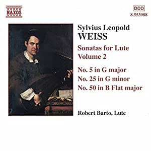 Weiss: Sonatas for Lute, Volume 2