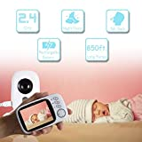"SereneLife Wireless Video Baby Monitor - Dual System w/ Temperature Thermometer Sleep Camera, 3.2"" Digital Color Screen Wireless Rechargeable Battery, Audio Speaker and Portable Mobile Clip - SLBCAM20"