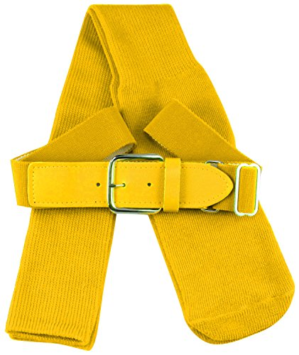 Big Gold Belt (TCK Sports Baseball Belt & Socks Combo Set, Gold,)