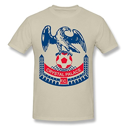 Men's Crystal Palace Fc Screw Neck Tees Size L Natural