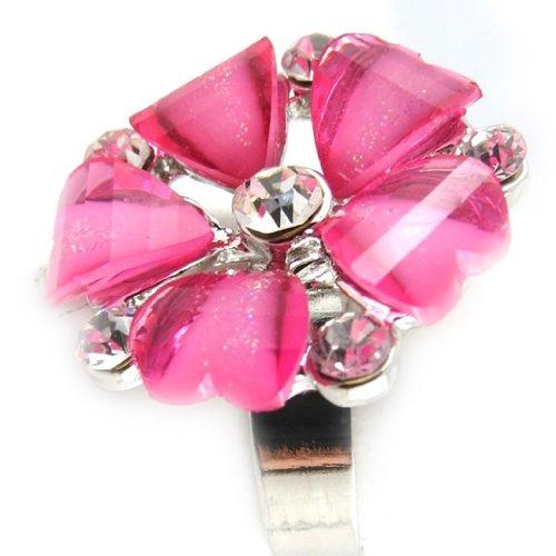 Les Trésors De Lily [K7410] - 2 bagues cristal 'Princesa' turquoise rose