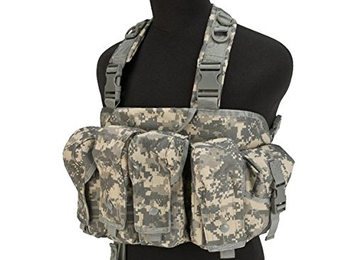 DLP Tactical Intruder Universal Chest Rig with 308 / 223 Magazine Pouches (Acu Chest Rigs)