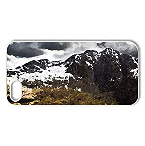 Snowdon - Case Cover for iPhone 5 and 5S (Mountains Series, Watercolor style, White)