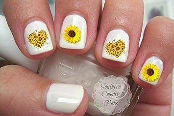 Amazon Sunflower Nail Art Decals Beauty