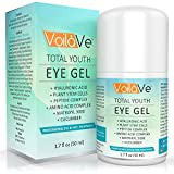 Total Youth Under Eye Gel Anti-Aging Eye Cream with Hyaluronic Acid and Cucumber for Dark Circles, Puffiness, and Wrinkles, Diminishes Crows Feet and Eye Bags, 1.7 fl. oz.