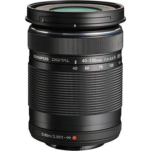 Olympus M.Zuiko 40-150mm f/4.0-5.6 R Micro ED Digital Zoom Lens (Black) with 32GB Card + BLS-1/BLS-5 Battery + Case + Tripod + Kit for OM-D E-M10, PEN E-P5, E-PL2, E-PL3, E-PL5, E-PM1, E-PM2 Camera