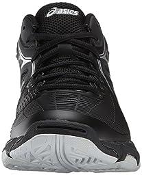 ASICS Women\'s Gel Netburner Ballistic MT Volleyball Shoe, Black/Silver, 9 M US