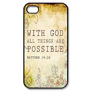 Bible Verse Use Your Own Image Phone Case for Iphone 4,4S,customized case cover ygtg620557