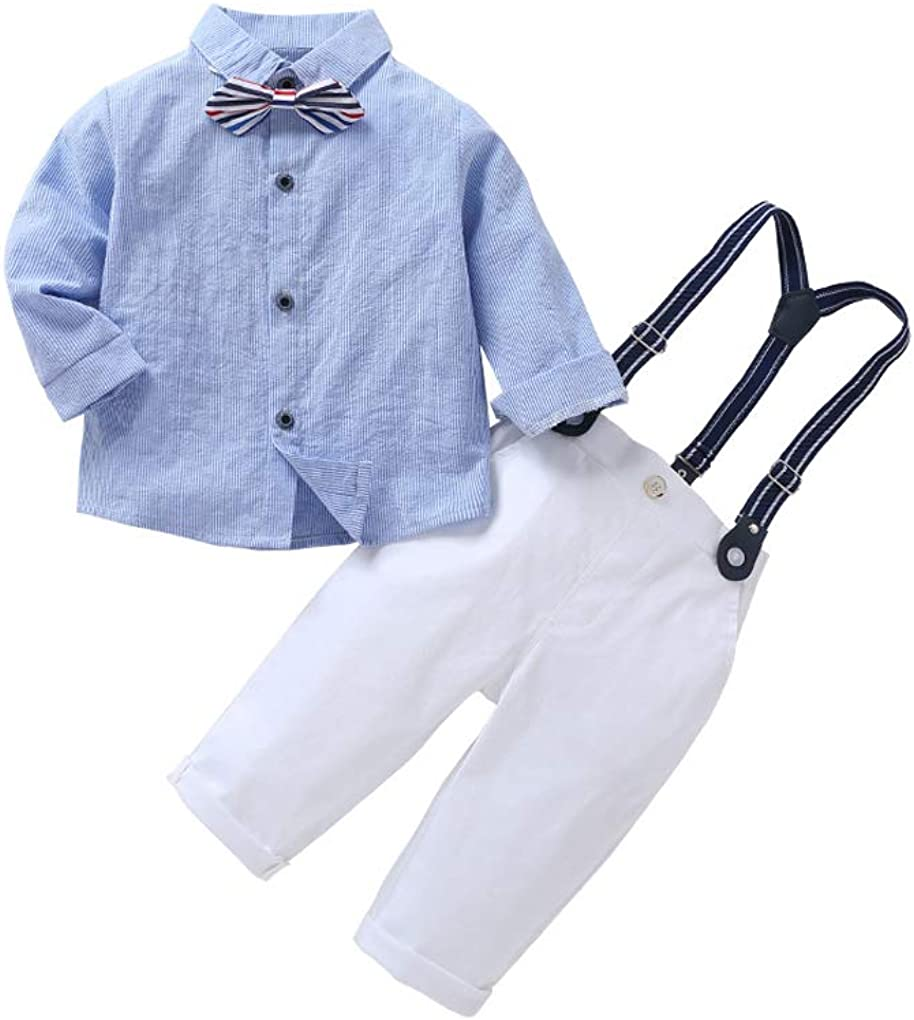 MetCuento Baby Boy Tuxedo Outfit Gentleman Bowtie Vest Suit for Birthday Wedding Clothes Set